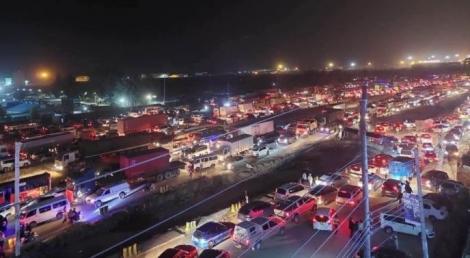 Heavy traffic along Mombasa Road on Saturday, July 3, 2021.