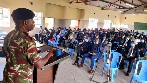 Rift Valley Regional Commissioner George Natembeya Addressing New Bosses on Tuesday September 5
