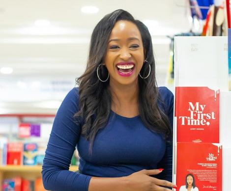 Janet Mbugua is all smiles after the launch of her book titled My First Time.