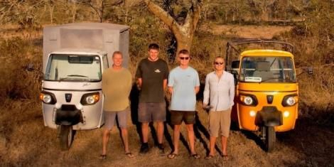 Image of the four planning to travel from Kenya to South Africa in tuk tuks