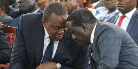 President Uhuru and ODM leader Raila.