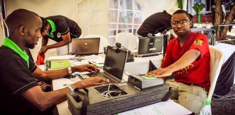 a Kenyan During a ast voter registration process