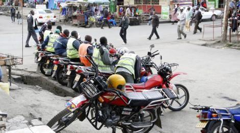 An undated photo of boda boda riders in Nairobi