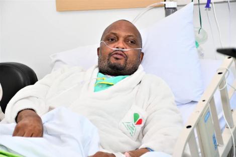 Undated image of Gatundu South MP Moses Kuria admitted in Hospital.