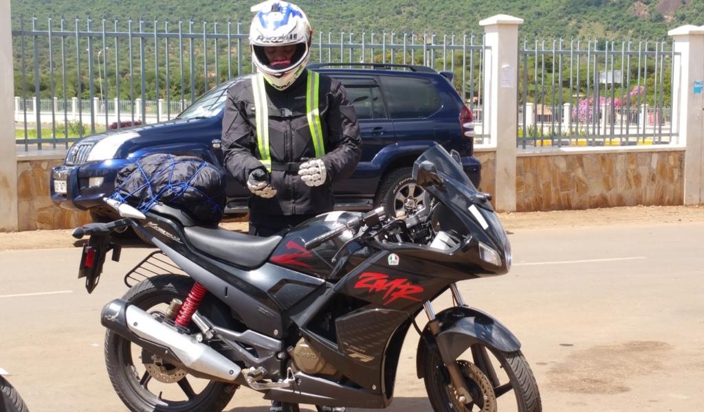 Motorcycle ride from Nairobi to Arusha