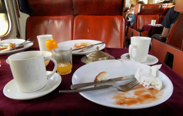 Breakfast in the Restaurant car
