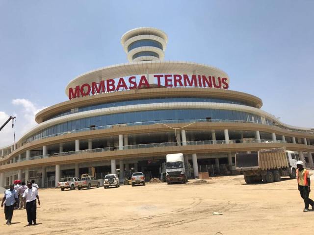Madaraka Express Train Mombasa Terminus