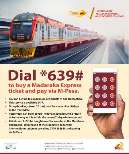 Booking Madaraka Express Train Using USSD