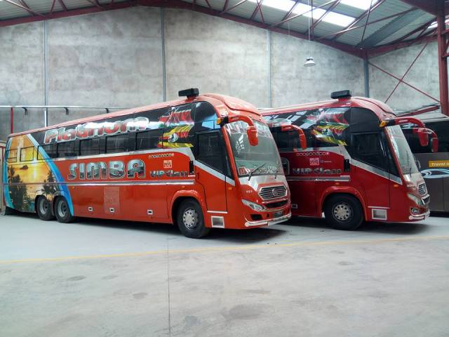 Traveling by bus in East Africa - Simba Coach