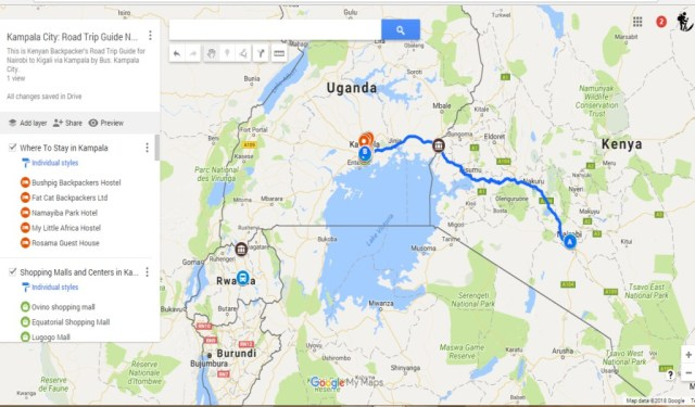 Backpacking Kampala, Uganda - Kampala maps Road Trip Guide; Nairobi to Kigali Via Kampala
