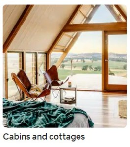 Airbnb Cabins and Cottages