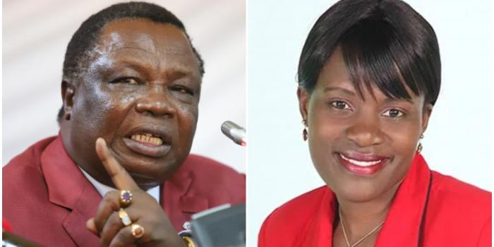 A photo collage of Central Organisation of Trade Unions (COTU) Secretary General Francis Atwoli and his wife Mary Kilobi.