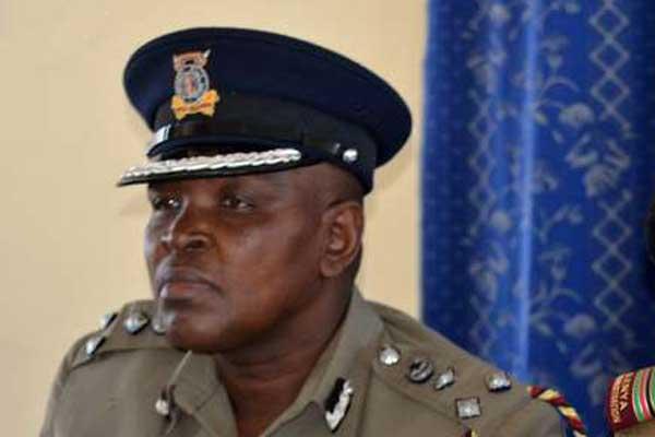 Former Coast regional police boss Francis Wanjohi addressing the press