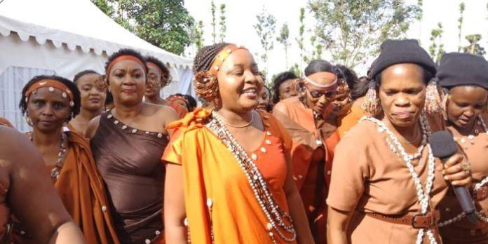 Kirinyaga governor Anne Waiguru arrives at her Traditional Wedding on July 13, 2019.