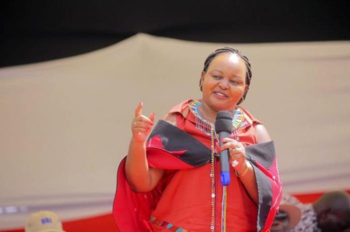 Kirinyaga governor Anne Waiguru during the BBI rally in Narok on Saturday, February 22.