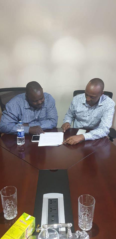 The photo shared by Sonko of the alleged meeting between Makadara MP George Aladwa and Matopeni MCA Abdi Guyo