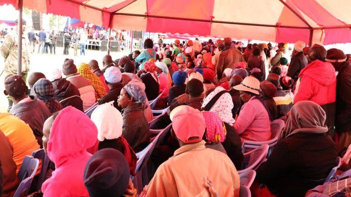 Residents of Tharaka Nthi at a function on Saturday, November 23