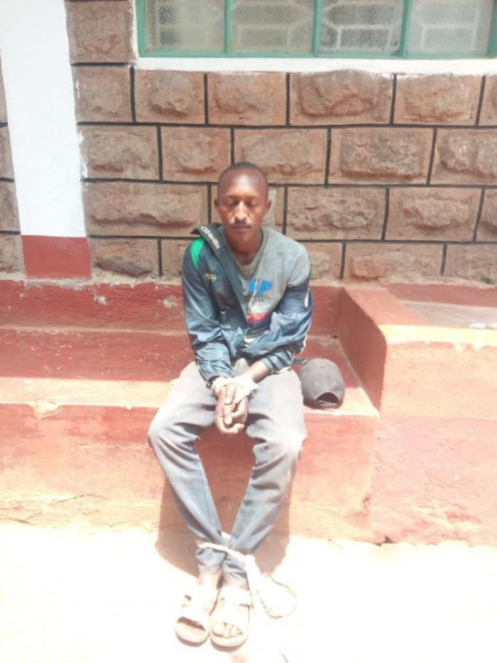 Peter Muiya ponders his next move after being arrested stealing from a church on Thursday, February 13