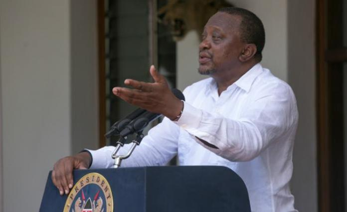President Uhuru Kenyatta announces cabinet changes on Tuesday, January 14.