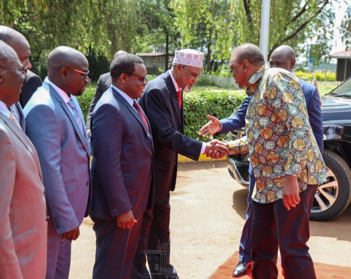President Uhuru Kenyatta arriving at Bomas on Wednesday, November 27, 2019.