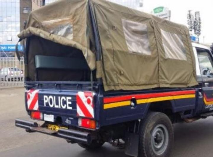 A police car in Kenya