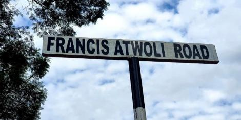 A sign post immortalised with COTU secretary general Francis Atwoli