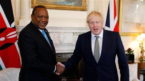 UK Prime Minister Boris Johnson and President Uhuru Kenyatta