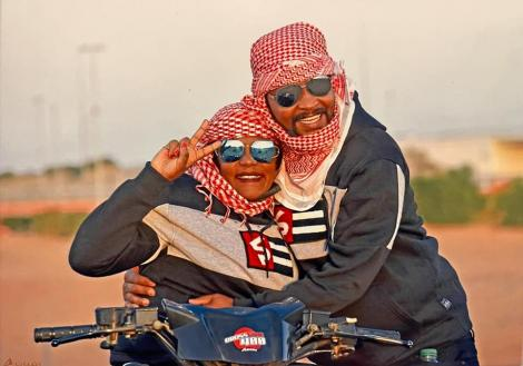 Gladys Chebet and her fiance David Seurey in Dubai