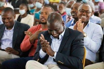 Deputy President William Ruto attends a service at Africa Inland Church in Machakos on Sunday, October 11, 2020.