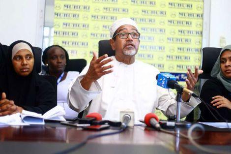 An image of Muslims for Human Rights(MUHURI) ChairmanKhelef Khalifa