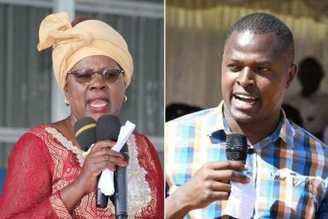Members of Parliament Alice Wahome (Left) and Ndindi Nyoro.