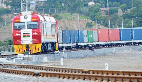 An SGR Cargo train on the move
