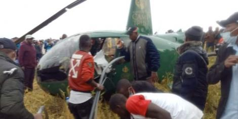 Narok Governor after the helicopter he was travelling in crashed on October 17, 2020.