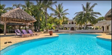 A swimming pool at Temple Point Resort, Watamu, Kilifi County