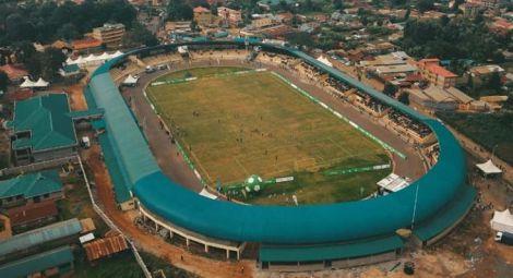 An ariel view of Kinoru stadium in 2018