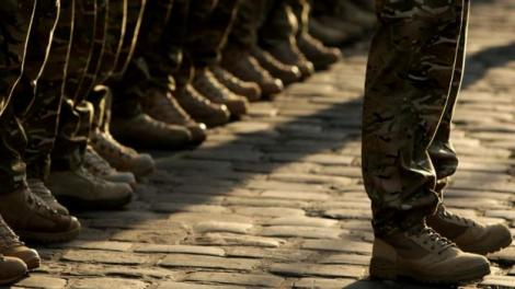 A file image of military boots