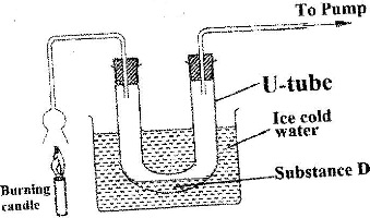 The set up below was used to investigate the reaction