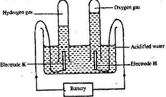 The apparatus shown in the diagram below were used to