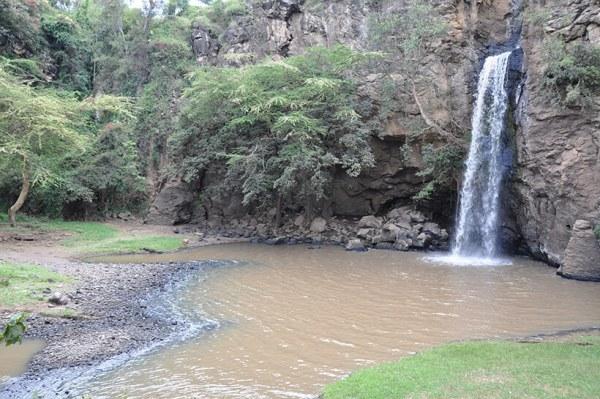Makalia waterfall in Lake Nakuru Natonal Park Kenya Safari