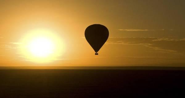 Hot-air balloon safari Masai Mara Kenya Africa sunrise
