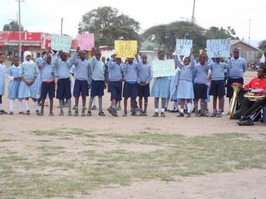 Donkey day by primary school students