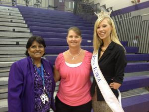Miss Iowa Speaks to KCSD Students