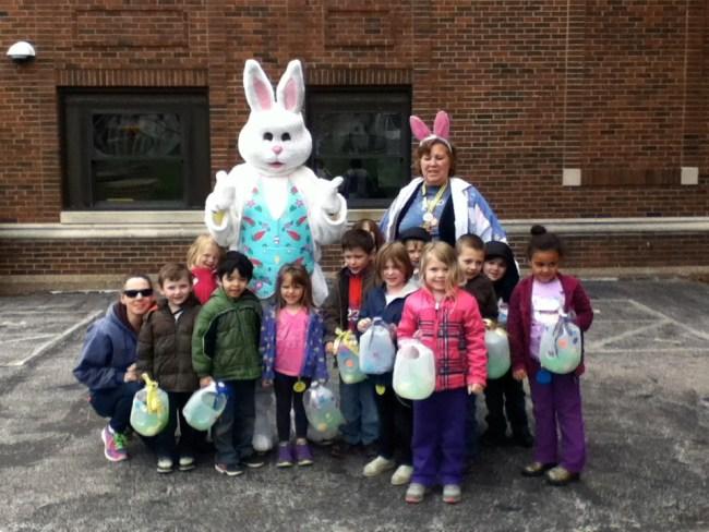 Easter Bunny Visits PreK