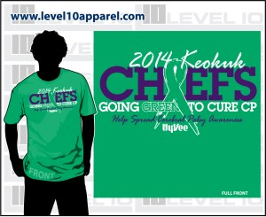 Chief's Sportin' for A Cure Green Out
