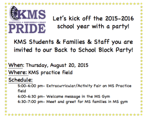 KMS Block Party