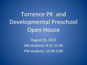 Torrence PK & Developmental PS Open House