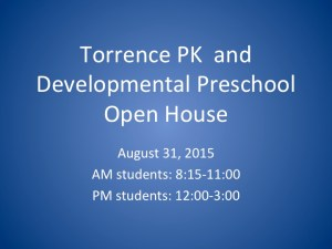 Torrence PK & Developmental PS Open House