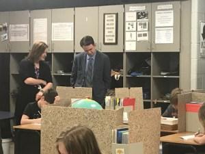 Dr. Wise  visits Keokuk Schools