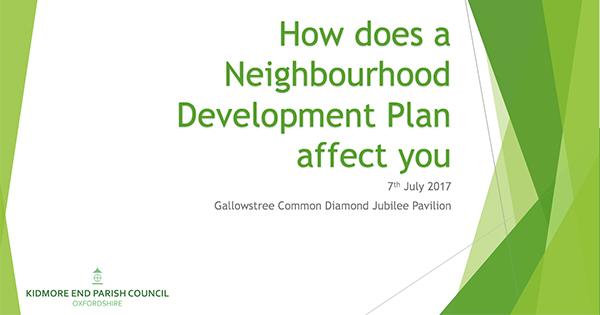 kidmore end oxfordshire neighbourhood development plan