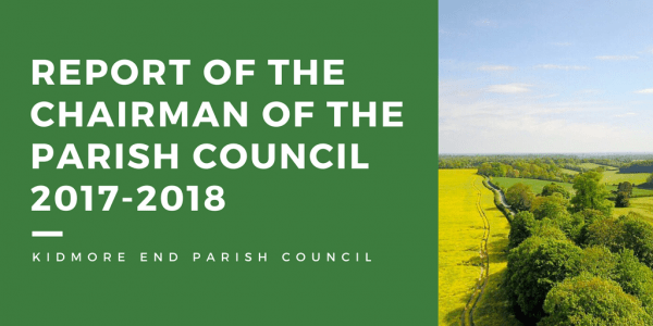 Report of the Chairman of the Parish Council 2017-2018-2